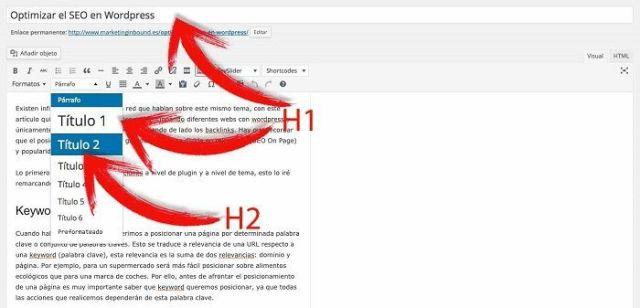 Títulos en WordPress