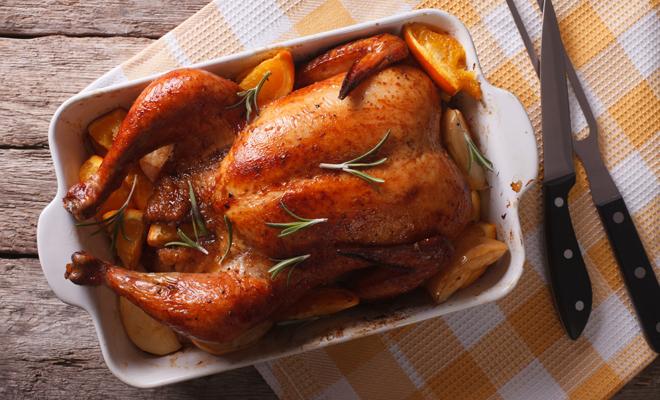 Recetas de platos principales para Navidad: pavo asado