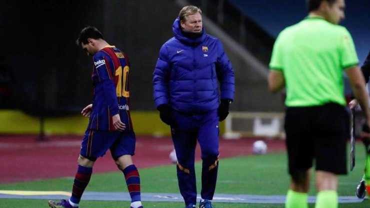 Leo Messi y Ronald Koeman