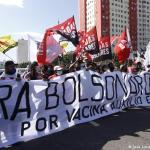 Miles de brasileños se lanzaron a las calles a protestar contra Jair Bolsonaro