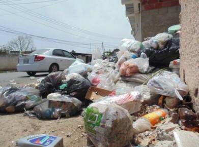 Los container no se dan abasto están abarrotados de basura
