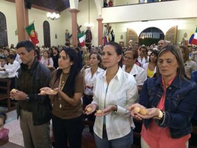 María Corina participó en las celebración del día del santo patrono de los sanantoñeros