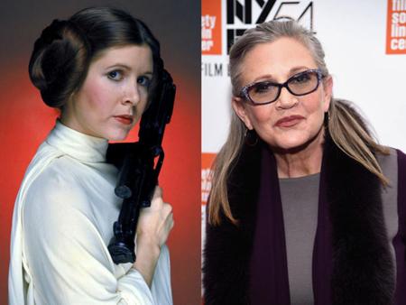 """Carrie Fisher, conocida por su papel de la princesa Leia en """"Star Wars"""", falleció este martes a los 60 años"""