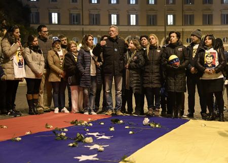 ITALY-VENEZUELA-POLITICS-DEMO-RIGHTS