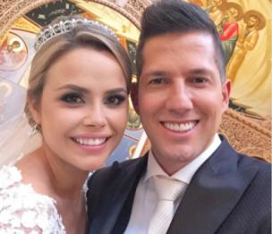 Georgina y su novio el cantante Gabriel (Gabo) Parisi contrajeron nupcias este sábado en una ceremonia celebrada en el Coral Gables de Florida