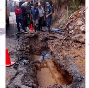 Hidrológica realiza los trabajos de exploración y reparación