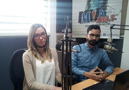 Kelly Zued y José Luna están encargados de la edición meridiana
