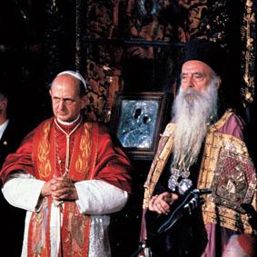 El Papa Pablo VI y Atenágoras I (1896-1972) Patriarca de Constantinopla