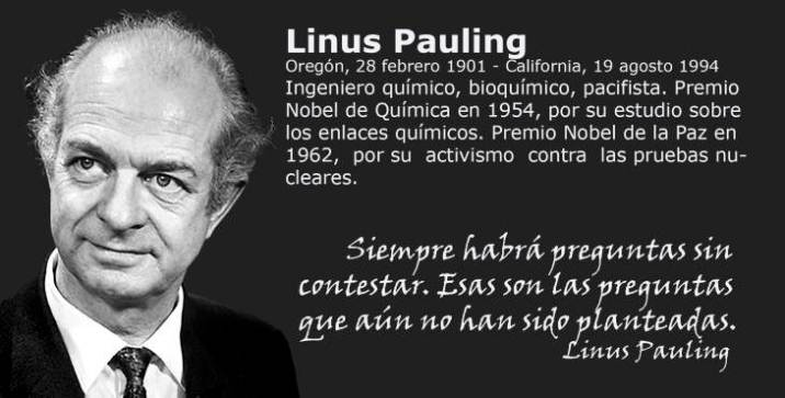 the life of linus carl pauling Linus c pauling dies at 93 chemist and voice for peace the words came out as if he had been in show business all his life linus carl pauling was born.