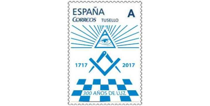 Correos emite el sello del Tricentenario de la Masonería