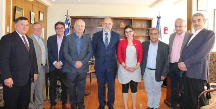 Presidente del Partido Comunista visita la Gran Logia de Chile