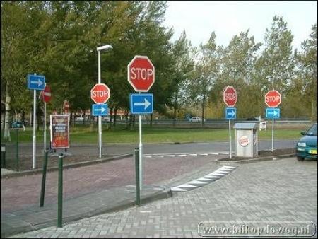 Galer�a de imágenes de señales de circulación graciosas