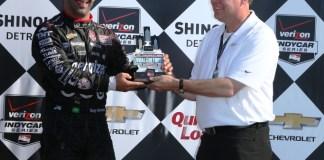 Tony Kanaan, com o 3º lugar em Detroit, pulou para 11º no campeonato (Foto IndyCar Media)