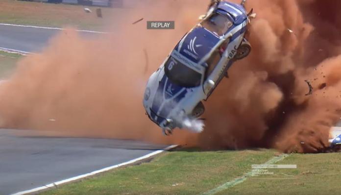 Acidente de Pedro Piquet em Goiânia (Reprodução TV)