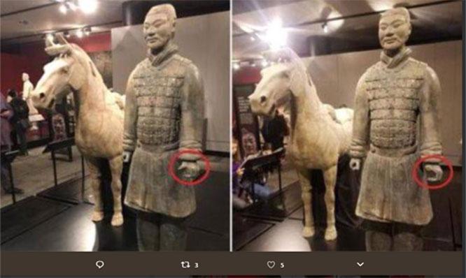 China exige punição exemplar para americano que danificou guerreiro de terracota