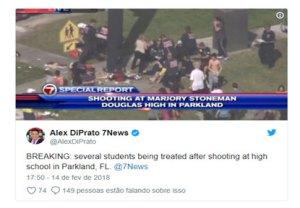 Tiroteio deixa pelo menos 20 feridos em uma escola na Flórida