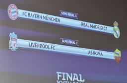 Real enfrenta Bayern, e Liverpool encara Roma na semifinal da Liga dos Campeões
