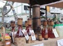 Ação idealizada pela prefeitura reúne produtores de Cambuci do município na Vila do Doce para a comercialização de produtos derivados do fruto. Foto: Gabriel Mazzo/PMETRP