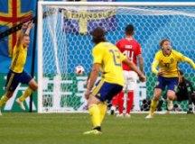 Suécia vence Suíça e volta as quartas após 24 anos