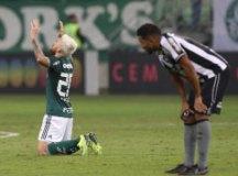 Lucas Lima comemora um de seus gols no Allianz Parque. Foto: Cesar Greco/Agência Palmeiras