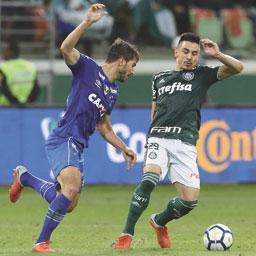 Barcos marca, e Cruzeiro derrota o Palmeiras