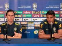 Filipe Luís e Thiago Silva se veem no papel de orientar os novatos convocados por Tite. Foto: Pedro Martins/MoWA Press