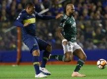 O Palmeiras, de Felipe Melo, sofreu sua primeira derrota como visitante nesta Libertadores. Foto: Cesar Greco/Agência Palmeiras