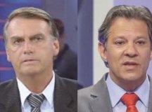 Datafolha mostra Bolsonaro com 59% e Haddad com 41% das intenções de voto válidas