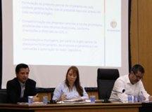 Costa, Marilia e Munhoz, durante audiência pública realizada na Câmara. Foto: Divulgação/PMSCS