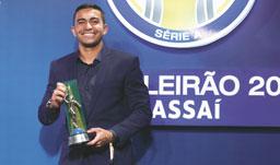 Dudu é eleito craque do Campeonato Brasileiro