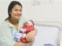 Andressa Nascimento deu à luz Manuella. Foto: Gabriel Mazzo/PMETRP