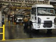 Fábrica da Ford, em São Bernardo, produz o hatch New Fiesta e três modelos de caminhões, como o Cargo. Foto: Divulgação/Ford