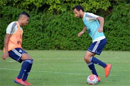 Recuperado, Nenê reforça treino do São Paulo em preparação para clássico