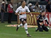 Pedrinho comemora gol que deu a classificação ao Corinthians. Foto: Rodrigo Coca/Agência Corinthians