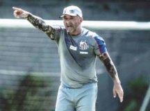 Sampaoli criticou dirigentes devido ao atraso nos salários. Foto: Ivan Storti/Santos FC