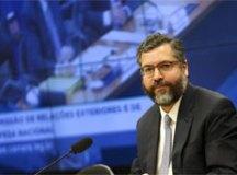 Ao falar na Câmara, Araújo reiterou importância da parceria. Foto: Marcelo Camargo/Agência Brasil
