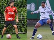 Hudson ganha oportunidade no Tricolor, e Antonio Carlos não perde há seis meses. Fotos: Rubens Chiri/SPFC e Cesar Greco/Agência Palmeiras