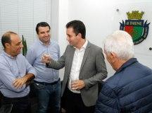 Auricchio, Pio Mielo,Paulo Serra e -Brandao, durante reunião na Câmara de São Caetano. Foto: Hélber Aggio/PSA