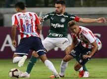 O Palmeiras, de Bruno Henrique, não teve dificuldade para derrotar time colombiano. Foto: Cesar Greco/Agência Palmeiras