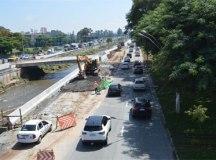 Obras da ponte de Santa Teresinha continuam neste final de semana na avenida dos Estados