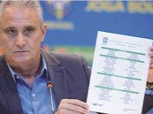 """Tite anuncia a lista de convocados: """"Sei da importância do resultado, mas não posso controlar"""". Foto: Pedro Martins/MoWA Press"""