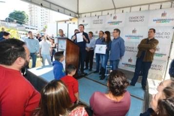 Em São Bernardo, o programa Praça-Parque chega ao bairro Santa Terezinha