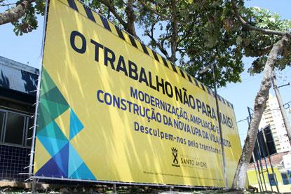 Prefeitura de Santo André inicia obras da UPA Vila Luzita