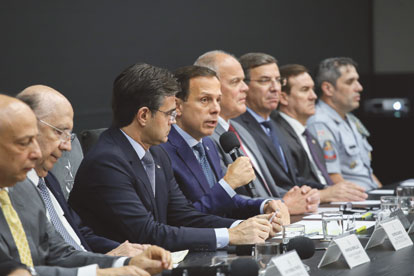 Doria anuncia reajuste e pacote de valorização para policiais