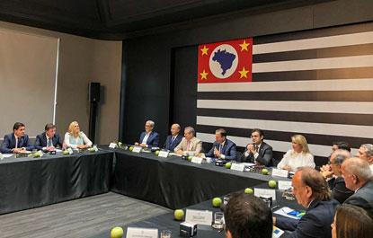 Morando participa de reunião de Doria com secretariado estadual