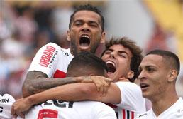 Ataque funciona e São Paulo goleia o Oeste pelo Paulistão