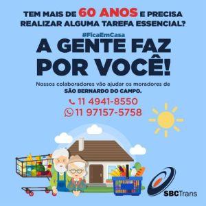 SBCTrans lidera ação social para idosos de São Bernardo