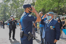 """Medalhas entregues aos agentes foram a de Combatente da Força Pública, de Domingos Jorge Velho e do Mérito Policial """"Lei e Ordem"""". Foto: Adriana Horvath/PMD"""