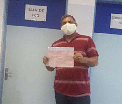 Morador de Diadema reclama de aparelho de eletrocardiograma quebrado na UBS Paineiras. Foto: Arquivo pessoal