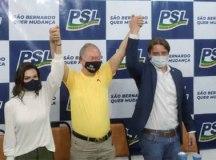 """Ana Paula, Nishikawa e Demarchi: """"precisamos oxigenar a política de São Bernardo"""". Foto: Angelica Richter"""